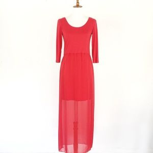 Vince Camuto Size M Dress Maxi Red Back Zip